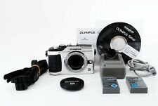 Olympus PEN E-PL2 12.3MP Mirrorless Digital Camera Silver w/ Strap, Battery etc