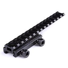 "1/2"" Riser Rifle Scope Mount Flat Top Picatinny Weaver Rail w/Extension 14 Slot"