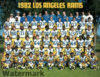 1982 NFL Los Angeles Rams Color Team Photo  8 X 10 Photo Picture