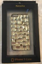 iPhone 5 Glittery Gold NATASHA Jeweled Hard Shell Cell Phone Case NEW Cute!