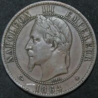 1864 BB | France 10 Centimes | Bronze | Coins | KM Coins