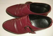 Vtg Dr Martens 'crocodile' buckle shoe. sz7