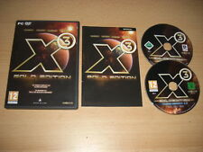 X3 GOLD EDITION Pc DVD X 3 Reunion 2.5 Bala GI + Terran Conflict Aldrin Missions