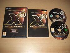 X3 GOLD EDITION Pc DVD X 3 Reunion 2.5 Bala GI + Terran Conflict Aldrin Missions