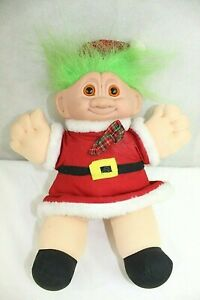 CLOUD 9 elf troll red suit green hair orange eyes plush body excellent condition