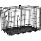 """Dog Cage Puppy Pet Crate Carrier - Small Medium Large S M L XL XXL Metal <br/> Heavy Duty 18"""" 24"""" 30"""" 36"""" 42"""" 48"""" UK Stock - Fast Ship"""