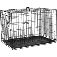 Dog Cage Puppy Pet Crate Carrier - Small Medium Large S M L XL XXL Metal