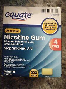 Equate Stop Smoking Aid Nicotine Gum - 220 Pieces, 4mg
