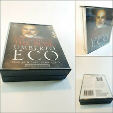 Umberto Eco 16 Cassette Audio Book THE NAME OF THE ROSE  | Hard to Find.