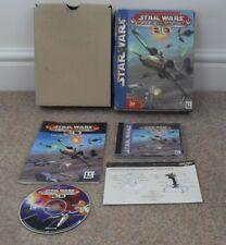 STAR WARS ROGUE SQUADRON 3D 3-D PC CD-ROM BIG BOX SET BOXSET+INSERT+INSTRUCTIONS