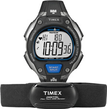 Timex Men's T5K718 Ironman Road Trainer Digital HRM Flex Tech Chest Strap & Full