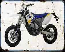 Husaberg Fs 570 Supermoto 10 A4 Metal Sign Motorbike Vintage Aged