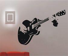 Guitar Guitarist Music Wall Stickers Decor Mural Art Decals Home Decal #136