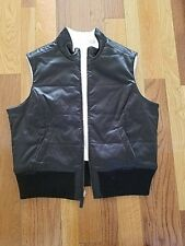 Men Boys reversible jacket vest size Medium Black and white