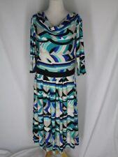 NWT Reborn Knit Dress  XL Aqua Black White Beige NEW