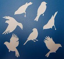 Scrapbooking - STENCILS TEMPLATES MASKS SHEET - Bird Silhouette  Stencil