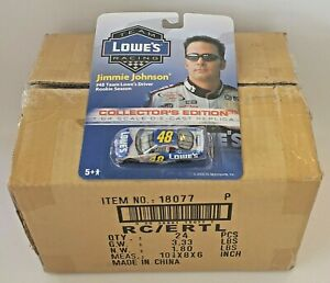 CASE OF 24 1/64 JIMMIE JOHNSON #48 TEAM LOWES RACING 2002 ROOKIE PROMO CARS