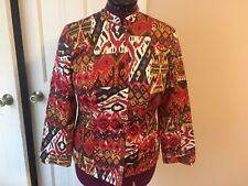 NORM THOMPSON LADIES SIZE S JACKET BLAZER LONG SLEEVES BUTTON UP MULTI-COLORED