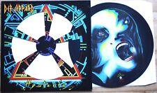 EX/EX Def Leppard HYSTERIA VINYL LP Picture Disc