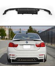 FITS 2015-17 BMW F8X M3 M4 PERFORMANCE STYLE CARBON FIBER REAR BUMPER DIFFUSER