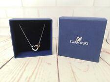 SWAROVSKI - Lovely necklace heart shape pendant, retail £59.95 white metal