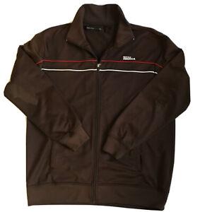 Perry Ellis America Mens Track Men's Jacket Brown Full-Zip Pockets XXL 2XL