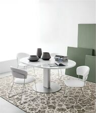 6x Calligaris Connubia chair Atlantis 1527 sled skid dining stool upholstered