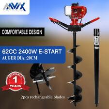 AAVIX 62cc Petrol Post Hole Digger 100cm Depth Earth Auger Drill Fence Borer