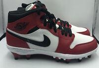 Nike Air Jordan 1 Retro TD Mid 'Chicago' Football Cleats Sz 8.5 Red AR5604-106