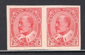 Canada 1903 E7 Imperf Pair Mint #90A CV$80