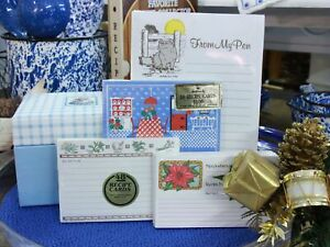 Hallmark Kitchen Collection Recipe Box/ 88 Cards/ Note Pad.