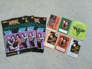 Lot of Van Halen Back Stage Pass, After Show,Commic book collection Unused!