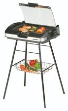 Cloer Barbecue-Grill 6720 Elektrogrill Standgrill Standfuß Glasdeckel NEU