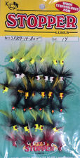 K & E Poppers, Card of 36, Size 14, Assorted Colors for Crappie #SP309-14-AST