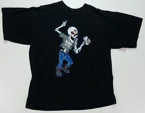 Rare VTG Stone Cold Austin 3:16 Skeleton Beer 1998 Hell Raiser T Shirt 90s 2XL
