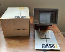 Photax Solar 2 Colour Viewer Good Condition + Original Box & Manual - Untested