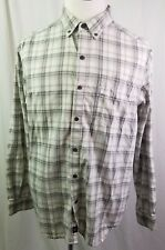 Mens Columbia Plaid Checks L/S Button Up Fishing Hiking Outdoors Shirt L