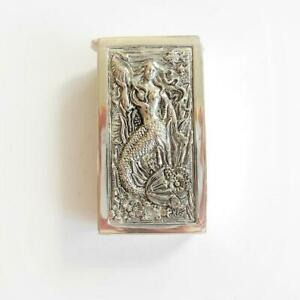 Continental Silver Mermaid Seashell Vesta Match Safe