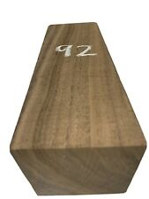 "BLACK AMERICAN WALNUT PEPPER MILL BLANKS, TURNING WOOD 3"" x 3"" x 9"", #92"