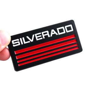 2x Red Black Car Body Fender Emblem Metal Badge Sticker for Chevrolet Silverado