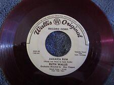Ruth Wallis, Jamaican Rum / Ubangi!  (Red Vinyl)