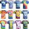 Popular  Tie Dye Artwork 3d Print Women's Men's Abstract Graphic Casual T-Shirt