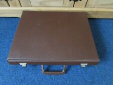 Vintage Audio Cassette Tape Storage Case With Carry Handle - BROWN With Keys