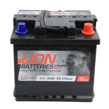 012 012 Car Battery 3 Years Warranty 40Ah 330cca 12V L207 x W175 x H190mm Lion