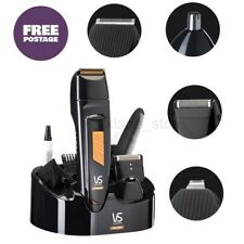 Mens Cordless Electric Shaver Face Body Groomer Hair Clipper Nose Ear Trim