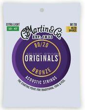 More details for set of martin guitar strings m170 80/20 bronze acoustic 10-47 extra light