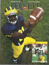 Desmond Howard on Cover May, 1992 Beckett Football Price Guide Pat Swilling Back