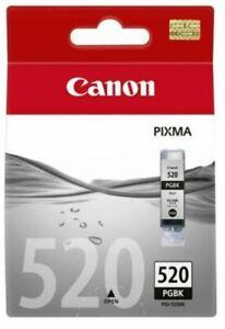 Genuine Original Canon 520 PGBK Black Printer Ink Cartridge PGI-520BK PGI-520