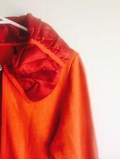 Burnt Orange Zip Up Knit. Fab Collar. Large 14