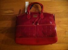 DOONEY AND BOURKE LARGE AUTUMN RED CROCO SATCHEL BAG ORG $360.00 BNWT